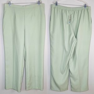 Alfred Dunner Pants 20W Winter Palace Pistachio